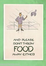 IMAGES OF WAR POSTER CARD - WWII, DO NOT THROW FOOD AWAY