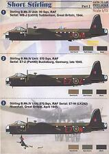 Print Scale Decals 1/72 SHORT STIRLING British WWII Heavy Bomber