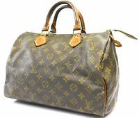 Louis Vuitton handbag Monogram Speedy 30 Doctor Mini Boston Gym Hand bag Auth