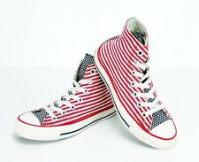 CONVERSE Chuck Taylor High Top All Star Flag CANVAS Red/White Youth Men 3 Wome 5