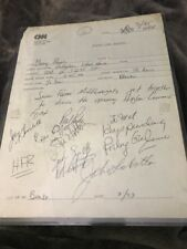 7 Boxing Middleweight Greats Signed on CNN Pg. Jake Lamotta, Rocky Graziano, Etc