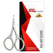 Nose Hair Scissors, Rounded Tip Trimming Scissors, Stainless Steel Eyebrows