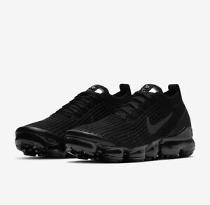 Nike Air VaporMax Flyknit 3 Women's 7-11 Triple Black AJ6910-002 New With Box