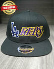Los Angeles Dodgers Lakers Adult Snapback Hat Embroidered Cap - Black