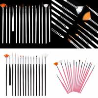 15Pcs Nail Art Design Dotting Brush Painting Pen Tool Drawing Brushes 3 Color