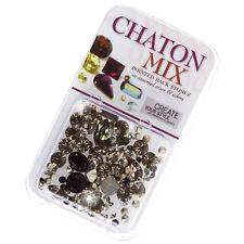 Swarovski Crystal Chaton Mix Rhinestones - Black 4.5 gram (G101/1)