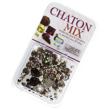 Rhinestones Swarovski Cristal Chaton Mix-Negro 4.5 gramo (G101/1)