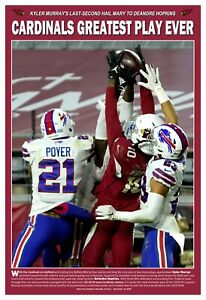 """The Greatest Play in Arizona Cardinals History 13""""x19"""" Commemorative Poster"""