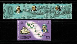 W0106 NEW HEBRIDES 1974 The 200th anniv. of the discovery  MH