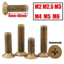 Brass Screws Phillips Countersunk Head Screw Flat Head Bolts M2 M2.5 M3-M6