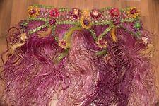 Grass Hand Woven Vintage War Era Custom Hula Skirt w/ Matching Top and Leis