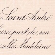 Charles De Peytevin De Saint-André Toulouse 1887 Madeleine De Cadolle De Durfort