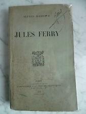 avec Portrait Jules Ferry RAMBAUD Alfred chez PLON-NOURRIT 1903