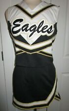 "EAGLES Cheerleader Uniform Outfit Costumes Sizes 32-44"" Top 22-34"" Skirt Choose"