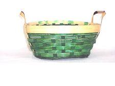 Lot of 50 Round Green Christmas Basket Fruit Gift Flower W-Handles Bowl