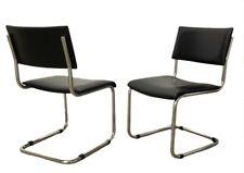X2 Chaises Cesca Design moderniste Marcel Breuer Tube Cantilever