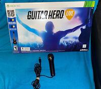 GUITAR HERO LIVE BUNDLE MICROSOFT XBOX 360 NEW OPEN BOX, includes Mic as bonus!!