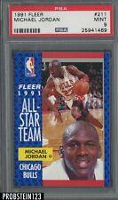 New listing 1991 Fleer #211 Michael Jordan Chicago Bulls PSA 9 MINT
