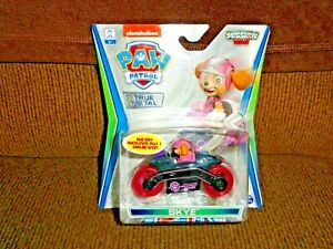 PAW PATROL TRUE METAL MISSION PAW SKYE ULTRA SUPER RARE CHASE with PINK TIRES