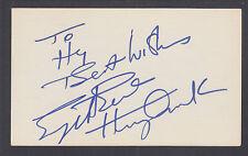 Engelbert Humperdinck, British Pop Singer, signed 3x5 card