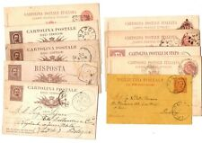 Italy pre 1900 Postcards (28) - Some nice cancels, mixed condition