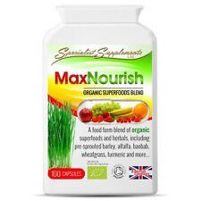 MaxNourish 100% Organic Multi-Vitamin Natural Non-Synthetic 100 Capsules