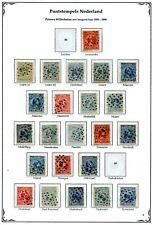 Nederland, puntstempels op Wilhelmina 1891 tussen 67 en 89 ; opruiming, sale