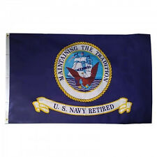 3x5 US Navy Retired Premium Quality Flag 3'x5' House Banner Grommets