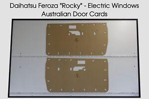 Daihatsu Feroza Rocky Door Cards. Suit Electric Windows. Blank Trim Panels