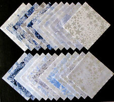 "Winter Frost Silver Accent Cotton Fabric 5"" Charm Pack Square Kit Benartex Frost"
