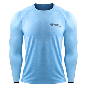 Race At Your Pace Men's Long Sleeved Compression Top - Branded