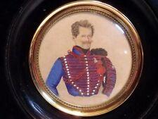 Miniature tableau peinture Officier Lancier cavalerie signé Empire Napoléon 19è