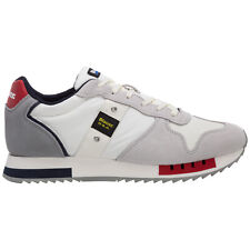 Blauer sneakers uomo S1QUEENS01MES bianco White/Red/Navy logo pelle scamosciata