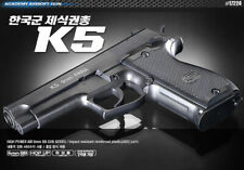 Academy Korea Full Size Plastic Airsoft Pistol BB Replica Hand Toy Gun 6mm K5