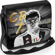 Ronaldo Sac Messenger Juventus School CR7 Garçons épaule Ordinateur Portable Football Sports