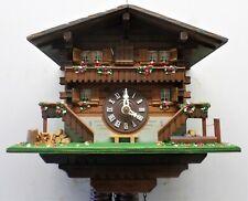 Nice Old Working Wood Swiss Mountain Chalet Widows Walk Cabin Cuckoo Clock!