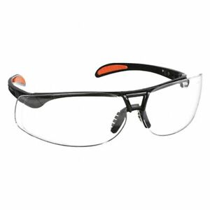 Uvex Protege Safety Glasses, Black Frame Anti-fog Clear Lens Made in USA #S4200X