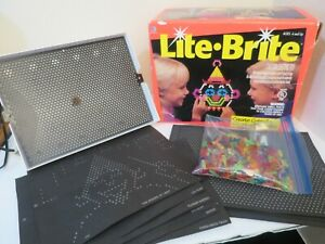 Vintage 1993 Lite Brite in Orig Box Working with Picture Stencils & Tons of Pegs