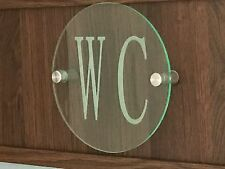 Contemporary CIRCLE HOUSE SIGN / PLAQUE / DOOR / NUMBER / GLASS EFFECT ACRYLIC