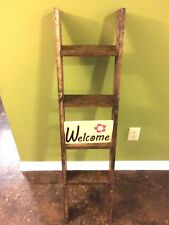 Rustic Wood Ladder - Wood Quilt Ladder - Nicknat Ladder - Wall Ladder