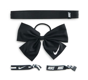 Nike Hair Bow Game Ready Team Headband  Set Black 15% OFF When Buy 10+