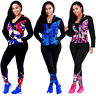 Lady 2Piece Set Tracksuit Hooded Jaket Top Pant Autumn Outfit Sporting Sweatsuit