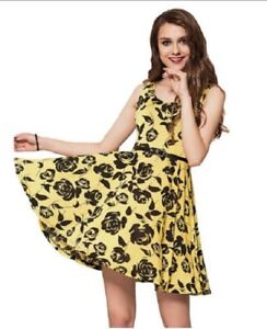 Dress With Good Quality New Fashion Sleeveless Western Floral Print