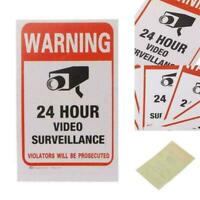 Surveillance Security Camera Video Sticker Warning R8K5 Decal Stickers Low V9E9