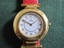 #585 ladys gold plate FENDI watch