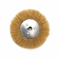 10 Inch Crimped Stainless Steel Wire Wheel Brush For Bench Grinder Bore 32mm Ebay