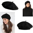 1pc Women 100% Warm Wool Winter Girl Beret French Artist Beanie Hat Ski Cap Gift