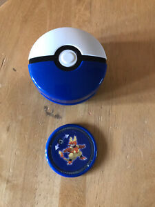 2019 Pokemon McDonald's PokeBall Belt Clip Shooters Toys - With Disc - Blue