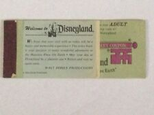 1977 DISNEYLAND ADULT MAGIC KEY TICKET BOOK WITH ALL 11 TICKETS ATTACHED -5079
