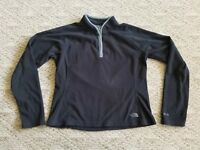 EUC THE NORTH FACE WOMEN'S FLEECE PULLOVER COLOR BLACK SIZE LARGE L HIKE CAMP